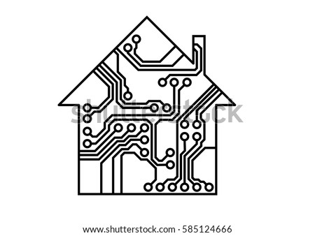 smart household vector  simple