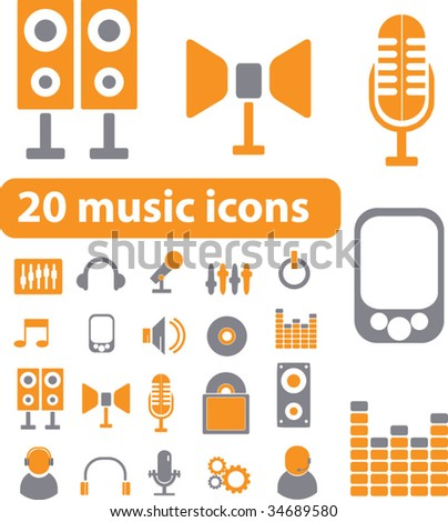 stock vector : smart music signs. vector