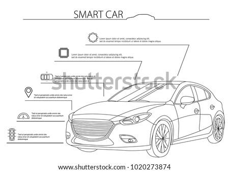 Bosquejo del coche - Descargue Gráficos y Vectores Gratis