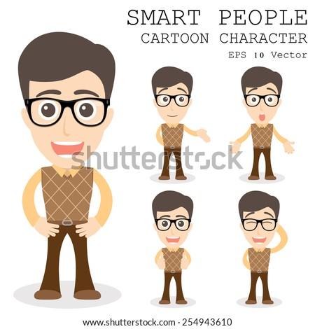 smart people cartoon character