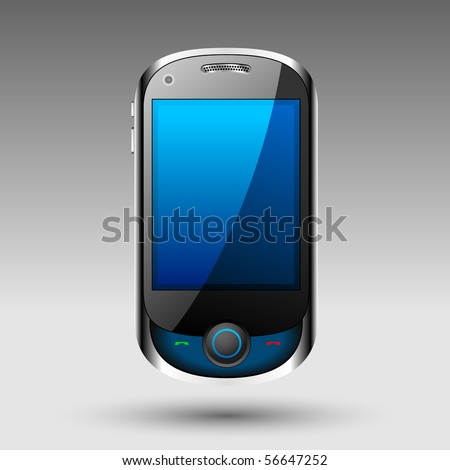Smart phone editable vector file