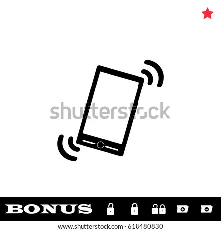 smart phone in silent mode icon