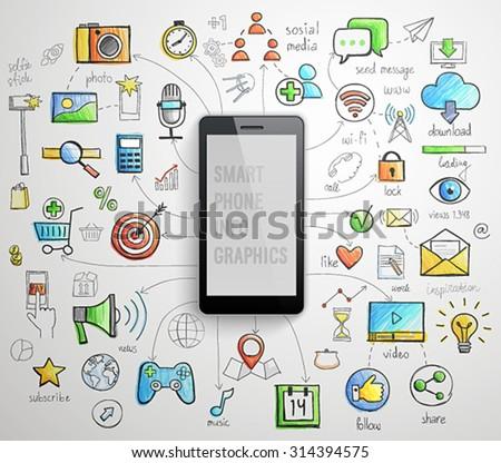 smart phone infographics