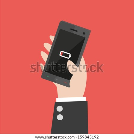 Smart Phone Low Battery vector