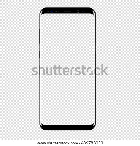 smart phone vector drawing