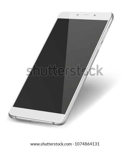 smart phone with black screen