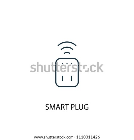 Smart plug concept line icon. Simple element illustration. Smart plug concept outline symbol design from Smart home set. Can be used for web and mobile UI/UX