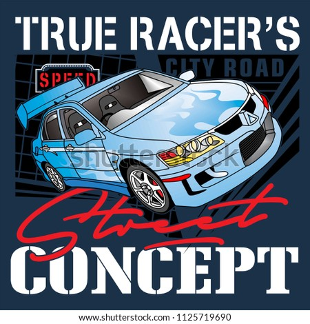 smart race,vector car illustration Stock fotó ©