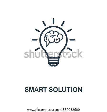 Smart Solution icon outline style. Thin line creative Smart Solution icon for logo, graphic design and more.