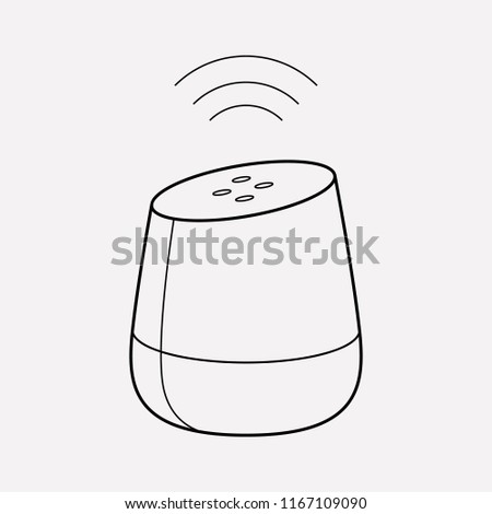 Smart speaker icon line element. Vector illustration of smart speaker icon line isolated on clean background for your web mobile app logo design.