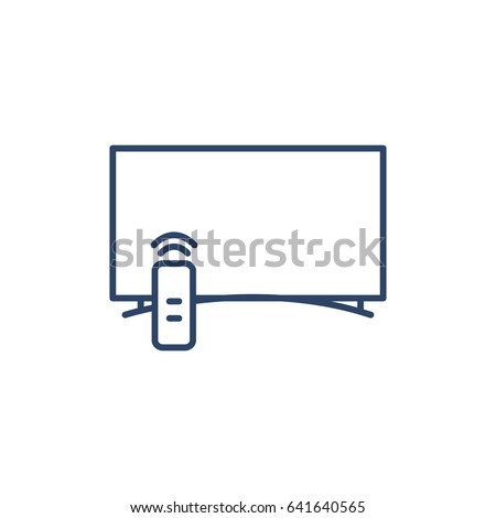 Smart Tv Flat Vector Icon