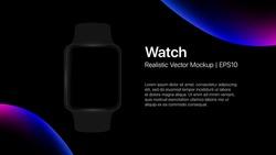 Smart Watch Presentation Slide Template. Vector illustration