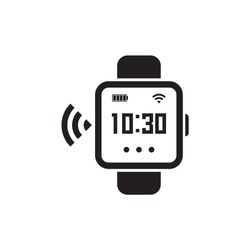 Smart watch, vector, illustration, isolate on white background.