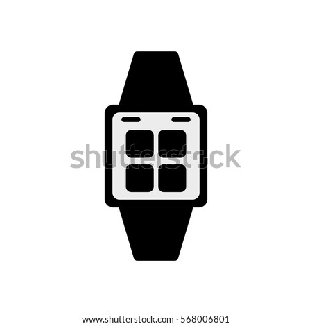 Smart watch wearable technology icon vector illustration graphic design