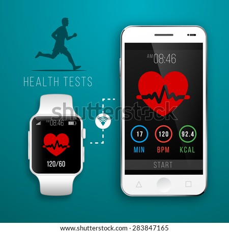 Smart Watch with Fitness application for health.