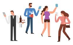 Smartphone Addiction Illustration