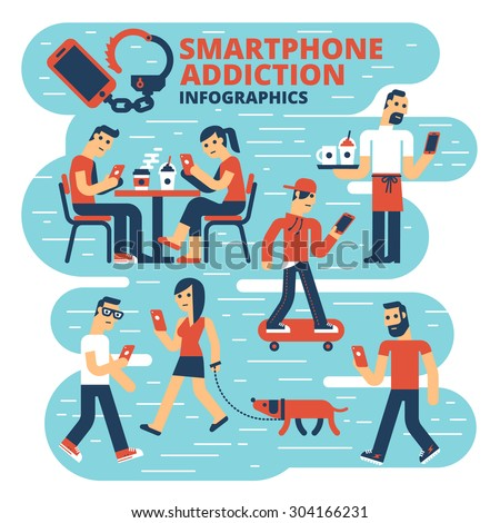 Smartphone Addiction Infographics