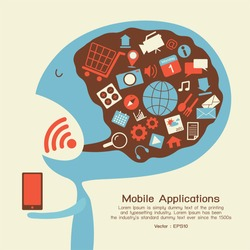 Smartphone application icon, vector