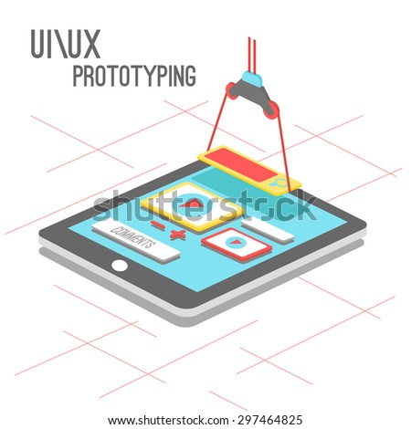 smartphone application vector