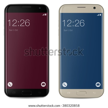 smartphone black and gold with