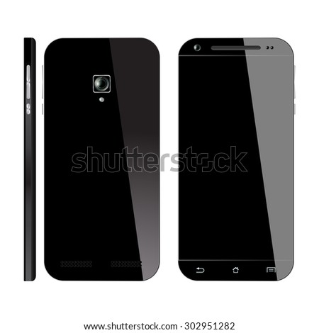 smartphone black with blank
