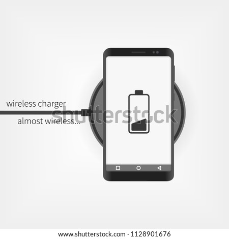 Smartphone charging on wireless charger