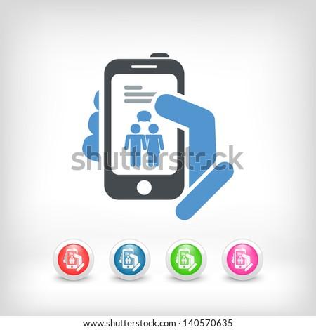 Smartphone chat icon concept