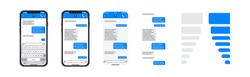 Smartphone chatting sms template bubbles, SMS chat composer, place your own text to the message, phone chatting sms template bubbles