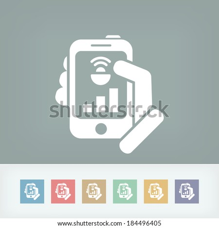 Smartphone connection icon