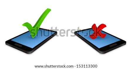 smartphone 3d checkmark
