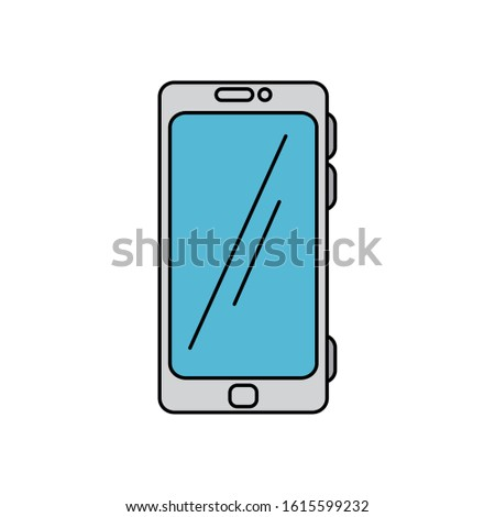 Smartphone design, Cellphone mobile digital phone technology communication and social media theme Vector illustration