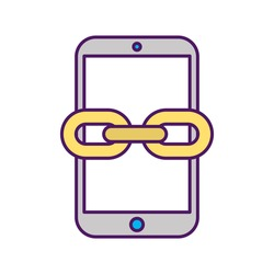 smartphone device with chain