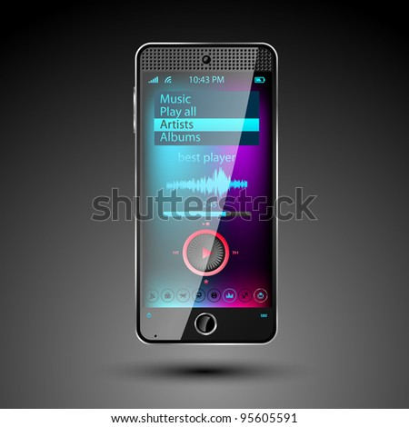 Smartphone editable vector file