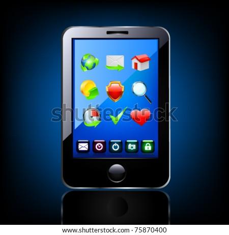 Smartphone editable vector file. Original design.
