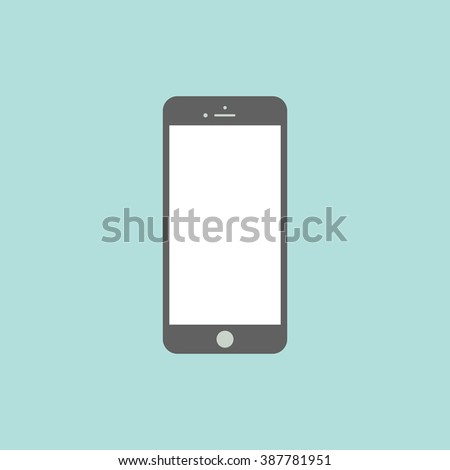 Smartphone flat icon in iphone style. Cellphone pictogram. Telephone symbol. Vector illustration, EPS10.