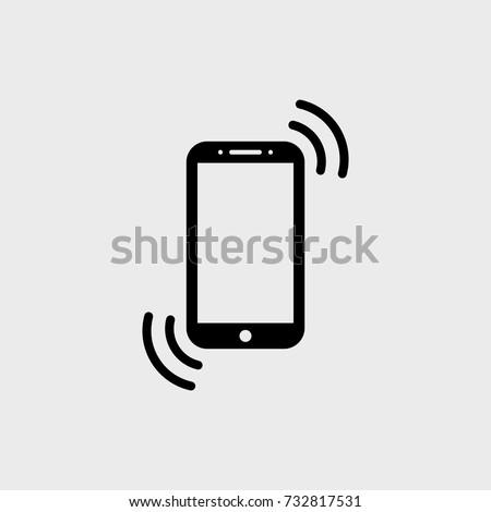 Smartphone flat vector icon. Phone flat vector icon