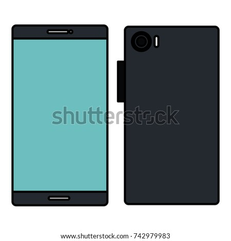 smartphone front and back #742979983