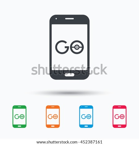 smartphone game icon go symbol