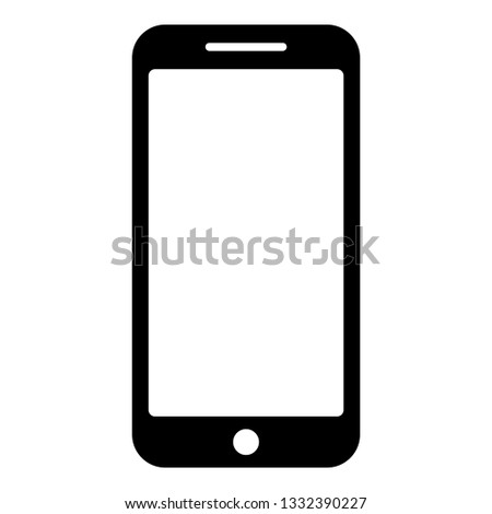 Smartphone icon black color vector illustration flat style simple image