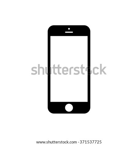 Smartphone icon in iphone style. Cellphone pictogram in trendy flat style isolated on white background. Telephone symbol for your web site design, logo, app, UI. Vector illustration, EPS10.