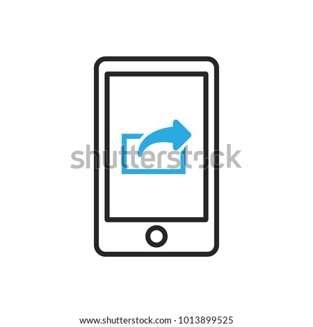 Smartphone icon. Mobile export data. Vector illustration