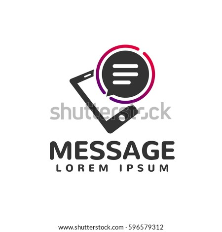 Smartphone icon. Phone icon. Message icon. Mobile icon. Communication, Speak, Speech Bubble, Talk logo. Chat bubble logo. Company, Corporate, Finance, Union, Corporate, Business, Web, App sign.