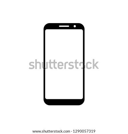 smartphone icon symbol vector. on white background editable eps10