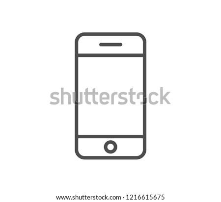Smartphone icon . Vector