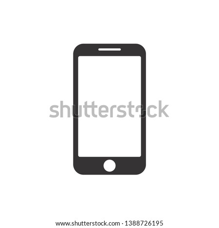 Smartphone Icon Vector Illustration. Flat Icon Mobile Phone, Modern Handphone Symbol