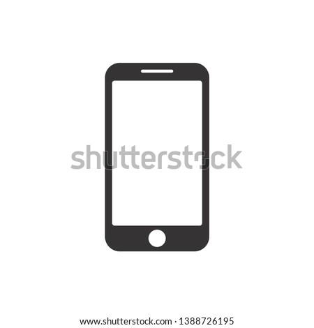 Smartphone Icon Vector Illustration. Flat Icon Mobile Phone, Modern Handphone Symbol
