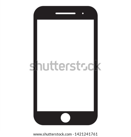 Smartphone icon vector, mobile Illustration