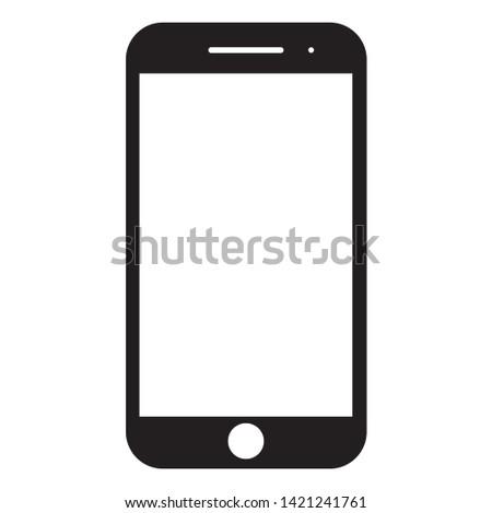 Smartphone icon vector, mobile Illustration