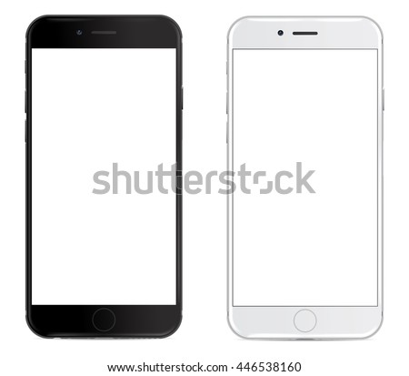 smartphone in black and white