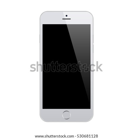 smartphone in iphone style grey